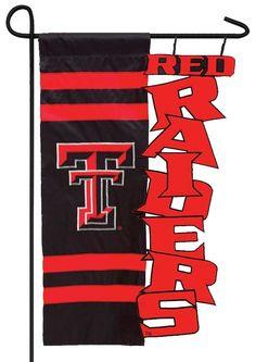 IAmEricas Flags - Texas Tech Red Raiders Sculpted Garden Flag, $15.00 (http://www.iamericasflags.com/products/texas-tech-red-raiders-sculpted-garden-flag.html)