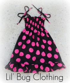 Custom Boutique Clothing Pink Black Dots Minnie by LilBugsClothing, $39.99