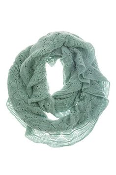 Millie Infinity Scarf in Mint. Love this color.