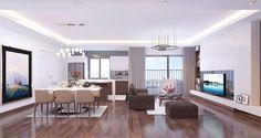 Thiết kế phòng khách căn hộ Imperia Sky Garden