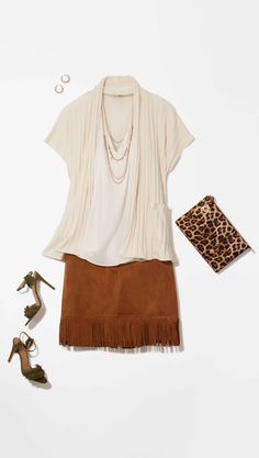 Plus Size Fashion: Take a walk on the wild side and try a boho style skirt!