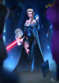 "LET IT GO by raikoart.deviantart.com on @DeviantArt - Elsa as a Sith; crossover between ""Frozen"" and ""Star Wars"""