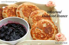 celozrnné kváskové lívance Czech Recipes, Pancakes, French Toast, Food And Drink, Sweets, Baking, Breakfast, Czech Food, Morning Coffee
