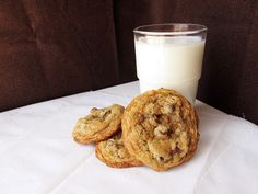 Chocolate chip cookies- crispy on the outside, chewy in the center