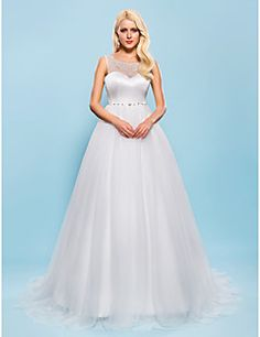 Ball Gown Scoop Court Train Tulle Wedding Dress. Get special discounts up to 70% Off at Light in the box using Coupons.