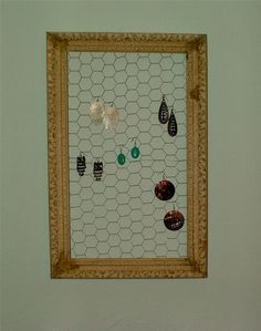 Jewelry Organizer Upcycled Vintage Frame  SALE by ohgloryvintage, $30.00