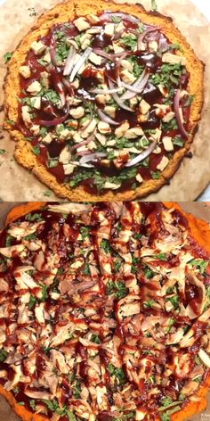 Jump to Recipe Print Recipe Who says good pizza cant be healthy? Or healthy pizza cant taste good? Our favorite pizza! Healthy Snacks, Easy Healthy Recipes, Easy Dinner Recipes, Healthy Eating, Being Healthy, Clean Eating Pizza, Healthy Recipe Videos, Pizza Legal, Barbecue Chicken Pizza