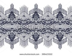 Isolated crocheted lace border with an openwork pattern. Vector illustration. Glamour, modern, fashionable pattern. - stock vector