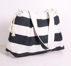 SUMMER TOTE Shoulder Bag Everyday PurseCanvas Dark by sineminugur, $39.00