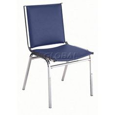 """Armless Stack Chair - 2"""" thick Seat Navy Vinyl or Light Grey Vinyl $55"""