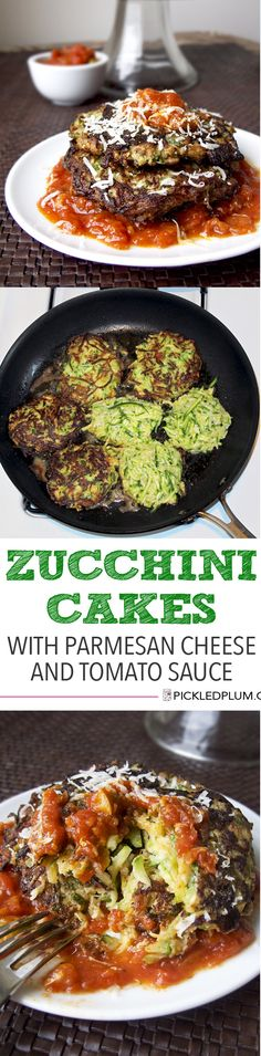 Healthy Recipe: Zucchini Cakes with Parmesan Cheese and a simple ...