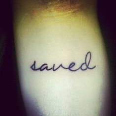 """""""The reason I got this tattoo is myself that God saved me from my past of suffering from depression and self harming."""" // I love the script"""