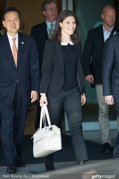 H.R.H. Crown Princess Victoria of Sweden and Crown Prince Daniel of Sweden visits South Korea on March 23, 2015 in Incheon, South Korea.