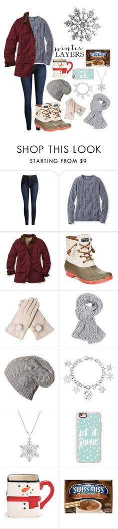 """Snow Days"" by hockey-equestrian ❤ liked on Polyvore featuring L.L.Bean, Sperry Top-Sider, Disney, Casetify, women's clothing, women, female, woman, misses and juniors"