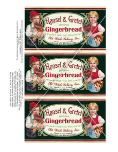 Christmas Vintage Label .