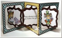 France Byrne with another amazing creation using the Pop it Ups Fancy Accordion Album and Fancy Frame Edges by Karen Burniston for Elizabeth Craft Designs - Riley1414-Alice2-wm