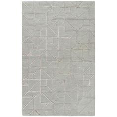 Slate Gray 2 ft. x 3 ft. Geometric Area Rug