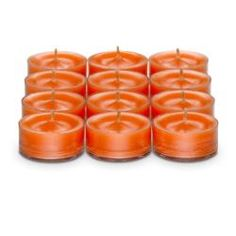 "Orange Zest Tealights for only $5 a dozen!! Shop under the host name of ""candle Blowout"" to get the deal today."