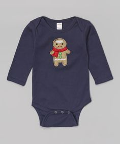 This Holiday by Petunia Petals Navy Gingerbread Boy Bodysuit - Infant by Holiday by Petunia Petals is perfect! #zulilyfinds