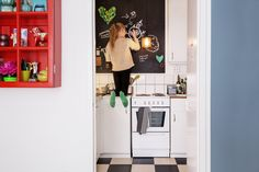 Get a creative space with blackboard paint!