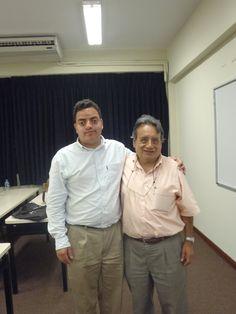 Freddie Armando Romero y Sinesio López, el gestor de la nueva sede de la Biblioteca Nacional de San Borja en el gobierno del Presidente Alejandro Toledo Manrique. (2011)