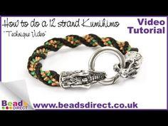 How to Braid 12 Strand Kumihimo | Twisted Kumihimo Braid - YouTube