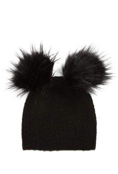 5d41dd24b02 Topshop Faux Fur Double Pompom Beanie