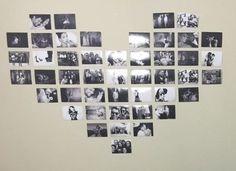 Tutorial coração de parede com fotografias Art Walk, Diy Tutorial, Dyi, Balloons, Dream Wedding, Bedroom Decor, Photo Wall, Frame, Home Decor