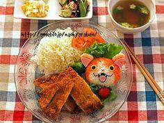 Jibanyan plate   from Nao Kyaraben
