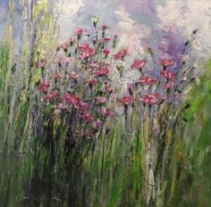 "Saatchi Art Artist Margaret Raven; Painting, ""Wild flowers"" #art"
