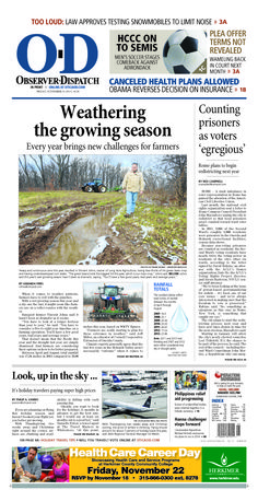 The front page for Friday, Nov. 15, 2013: Weathering the growing system
