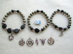 Items similar to Aroma Therapy Bracelets Dalmation Jasper Lava Diffuser Stretch Bracelet Om Dolphins, Pentacle Lotus Angel Wing on Etsy Stone Beads, Stones, Aroma Therapy, Pentacle, Anklets, Stretch Bracelets, Dolphins, Lava, Jasper