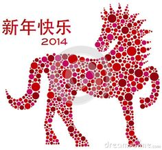 Illustration about 2014 Chinese Lunar New Year of the Horse Zodiac Polka Dots Pattern with Happy New Year Text Isolated on White Background Illustration. Illustration of white, drawing, chop - 28946222 2014 Chinese Zodiac, Chinese New Year 2014, Chinese New Year Crafts, Chinese Astrology, Chinese Holidays, Feng Shui, Horse Zodiac, Happy New Year Text, Image Hd