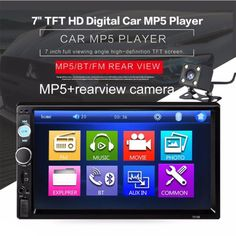 """US-Deals Audio Car Stereo Radio Bluetooth Audio Receiver Double Din 7"""" Touch Screen USB AUX TF: $50.00 End Date: Saturday…%#USDeals%"""