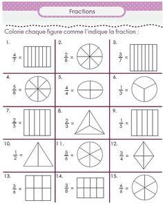 Second grade math worksheets are a great help to second graders. Learn math skills with second grade math worksheets 3rd Grade Fractions, Fractions Worksheets, Second Grade Math, Math Fractions, Grade 2 Math Worksheets, Equivalent Fractions, Math For Kids, Fun Math, Math Math