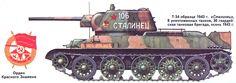 "Т-34-76. ""Сталинец"",30-я гвардейская таковая бригада 1943 год."