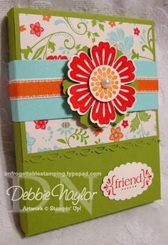 Simply Scored Gift Box and Note Card set... tutorial available for purchase