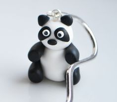 Panda Bookmark, Fimo, Polymer Clay, Cute, Animal £6.00
