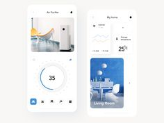 Smart home air purifier designed by Roman Lel . Connect with them on Dribbble; Adobe Photoshop, Lightroom, Windows Xp, Microsoft Windows, Homepage Design, Web Design, Home Air Purifier, Home Internet, Ui Design Inspiration