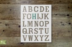 Printable alphabet letters with initial H for nursery art