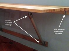 Butch Block Wall Mounted Table.