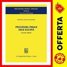 Procedura penale delle società / Massimo Ceresa-Gastaldo