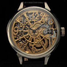 13a85166c9a Details about Mens AWESOME 1920 OMEGA FACTORY Vintage GOLD SKELETON Watch  WEB ENGRAVING
