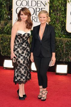 Tina Fey and Amy Pohler.  Still like the idea of a women's tux....