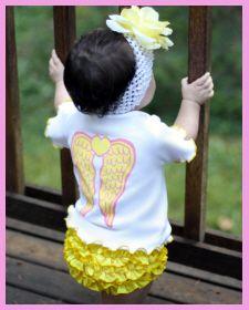 Christian Clothing | Faith Baby | Short Sleeve Ruffled 'Blessed' Top by Faith Baby    FaithBaby.com