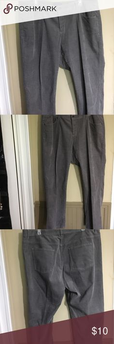 Talbot's Plus corduroy pants gray Petite length. In excellent condition from a smoke free home. Talbots Pants