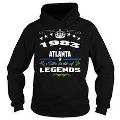 I Love 1983 Atlanta legends , Hoodie Shirt  ,  ,BIRTHDAY , legends 1983 Atlanta , legends year, 1983 Atlanta city Shirts & Tees