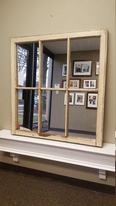White Window Mirror White Mirror Window by TheDecorativeCompany  www.thedecorativecompany.com #windowmirror #beigemirror #whitemirror