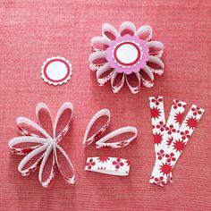 diy: paper flower gift embellishments...
