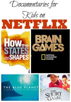 Documentaries for Kids on Netflix Need something to watch for movie night? Open up Netflix and pick one of these fun and educational documentaries for kids! You'll save money and learn a lot while you log some quality time with your children. Educational Videos, Educational Activities, Learning Activities, Activities For Kids, Netflix Documentaries, Netflix Netflix, Netflix Kids Movies, Watch Netflix, Kid Movies